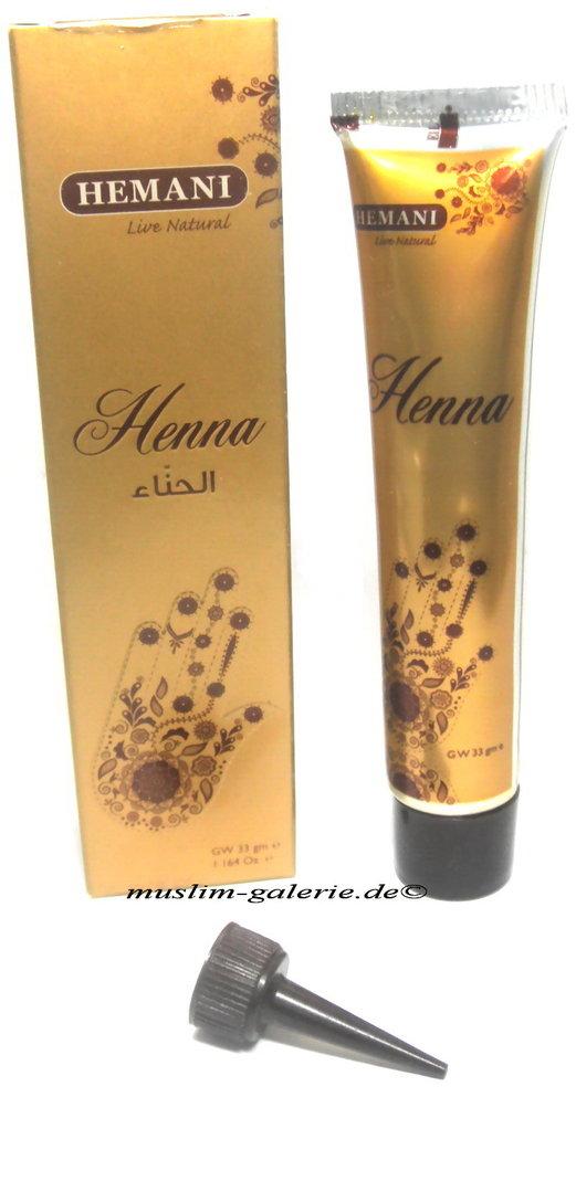 original hemani henna paste in tube henna tattoo rot kina stift muslim. Black Bedroom Furniture Sets. Home Design Ideas
