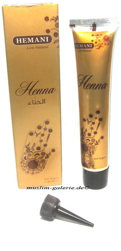 Original Hemani Henna Paste in Tube Henna Tattoo Rot *Kina Stift*